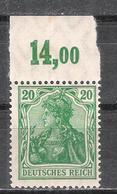 Reich Variété Du N° 121 Neuf ** Michel 143 P OR - Ungebraucht