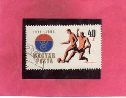 HUNGARY UNGHERIA MAGYAR 1961 STEEL WORKERS SPORT CLUB VASAS SOCCER CALCIO 40f USATO USED OBLITER - Hungría
