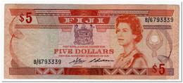 FIJI ISLANDS,5 DOLLARS,1986,P.83,aVF - Fiji