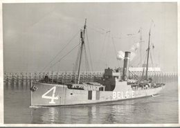 4 BELGIE   ++  18* 13   CM  WARSHIP BATTLESHIP  Kriegsschiff BATEAU DE GUERRE - Barcos