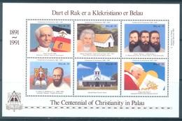 PALAU  -  MNH/** - 1991 - CENTENNIAL OF CHRISTIANITY - Yv 396-401 -  Lot 17746 - Palau