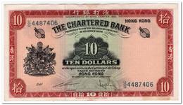 HONG KONG,10 DOLLARS,1962-70,P.70c,XF - Hong Kong