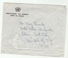 UN In CONGO COVER To UN NY USA  United Nations - Congo - Brazzaville