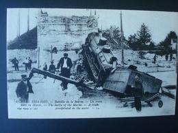 1914/5 - Batailledela MARNE - Un Train Dans Le Fleuve - Catastrophes