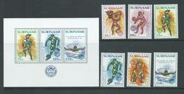 Surinam 1992 Barcelona Olympics Set Of 6 & Miniature Sheet MNH - Surinam