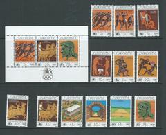 Surinam 1984 Los Angeles Olympics Set Of 12 & Miniature Sheet MNH - Surinam