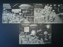 La Fin Du Monde Imaginé En 1910 - Lot De 6 Cartes - Catastrophes
