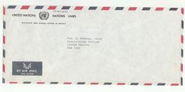 UN In LEBANON COVER UN Economic & Social Office Beirut To UN NY USA United Nations - Lebanon
