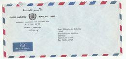 UN In LEBANON COVER Economic Commission Western Asia Beirut To UN NY USA United Nations - Lebanon