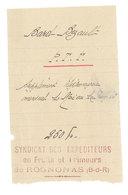 Vieux Papier Pub : Syndicat Des Expéditeurs En Fruits Et Primeurs De Rognonas, Famille Bard Bezault - Publicités