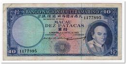 MACAO,10 PATACAS,1963,P.50,F-VF - Macau