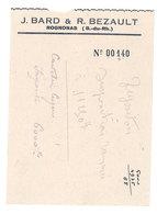 Vieux Papier Pub : Rognonas, Famille Bard Bezault - Publicités