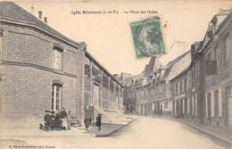 35-BECHEREL- LA PLACE DES HALLES - Bécherel