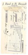 Vieux Papier Pub : Rognonas, Famille Bard Bezault Primeurs, Banque, Timbre Fiscal - Publicités