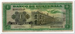 GUATEMALA,1 QUETZAL,1969,P.52,FINE - Guatemala