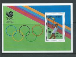 Barbuda 1988 Seoul Olympic Games Torchbearer Miniature Sheet Overprinted MNH - Antigua And Barbuda (1981-...)