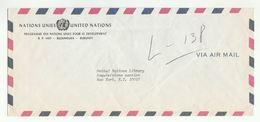 UN In BURUNDI COVER UNDP Bujumbura To UN NY USA  United Nations - Burundi