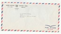 UN In GABON COVER  Libreville To UN NY USA  United Nations - Gabon