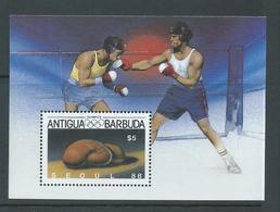 Antigua & Barbuda 1987 Seoul Olympic Games Boxing Miniature Sheet MNH - Antigua And Barbuda (1981-...)
