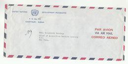 UN In SUDAN COVER UNDP Khartoum To UN NY USA  United Nations - Soudan (1954-...)