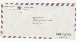 UN In MAURITANIA COVER  To UN NY USA United Nations - Mauritania (1960-...)