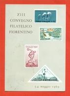 CARTOLINE CON FRANCOBOLLI-MRCOFILIA-FIRENZE- BORSE E SALONI COLLEZIONISMO - Francobolli (rappresentazioni)