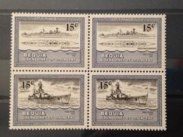 BEQUIA GRENADINES - Neuf** - Bloc De 4 Timbres  Navires WW2 - St.Vincent & Grenadines