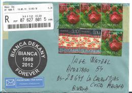 Yu-SL002 / Brief, Slowenien, Blüten + Handarbeit Auf Einschreiben 2018 - Slowenien
