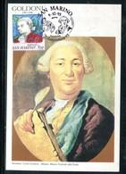 Saint Marin - Carte Maximum 1993 - Carlo Goldoni - Lettres & Documents