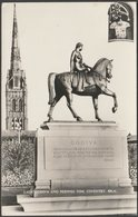 Lady Godiva And Peeping Tom, Coventry, Warwickshire, 1963 - Busst RP Postcard - Coventry