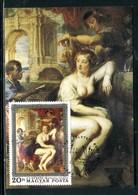 Hongrie - Carte Maximum 1977 - Oeuvre De Rubens - Cartes-maximum (CM)