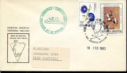 AANT-05 ARGENTINA 1983 ANTARCTIC ANTARCTICA STATION GRAL SAN MARTIN SPECIAL PMK - Timbres