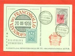 CARTOLINE CON FRANCOBOLLI-MRCOFILIA-BOLOGNA- BORSE E SALONI COLLEZIONISMO-GIORNATA DEL FRANCOBOLLO - Briefmarken (Abbildungen)