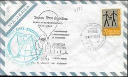 AANT-06 ARGENTINA 1969-70 ANTARCTIC ANTARCTICA STATION GRAL BELGRANO SPECIAL PMK - Bases Antarctiques