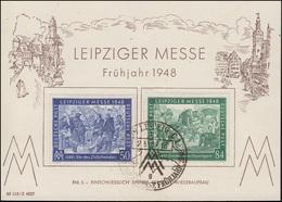 967-968 Leipziger Frühjahrsmesse 1948 Auf Messe-Karte, SSt Leipzig 2.3.1948 - Timbres