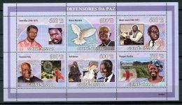 Guinea Bissau, 2009, Nobel Peace Prize, Mandela, Kofi Annan, United Nations, Tutu, MNH, Michel 4265-4270 - Guinée-Bissau