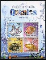 Guinea Bissau, 2011, International Chemistry Year, Minerals, United Nations, MNH, Michel 5303-5306 - Guinée-Bissau