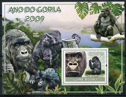 Guinea Bissau, 2009, International Year Of The Gorilla, United Nations, MNH, Michel Block 693 - Guinée-Bissau