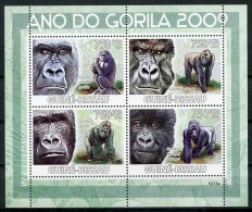 Guinea Bissau, 2009, International Year Of The Gorilla, United Nations, MNH, Michel 4178-4181 - Guinée-Bissau
