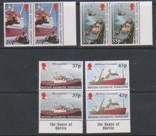 British Antarctic Territory (BAT)  2000 Survey Ships 4v (pair, Margin) ** Mnh (39822A) - Brits Antarctisch Territorium  (BAT)