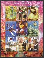 Sao Tome And Principe, 2004, United Nations, Pope, Olympics, Paintings, Rotary, Soccer, Ships, MNH Sheet - Sao Tome Et Principe