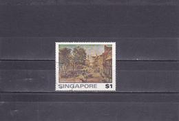 """Singapour Oblitéré 1976     N° 255    Tableau """"Place Rafles"""" - Singapour (1959-...)"""