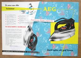 """Brochure """"Strijkijzer AEG 1957"""" - Old Paper"""