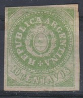 ARGENTINE 1862-1864:  10c, Vert-jaune,  Sans Accent Sur L'U De 'REPUBLICA', (Y&T 6c), Neuf *, Forte Cote - Nuovi