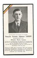 Doodsprentje Politiek Gevangene Olen  + Concentratiekamp Van Blankenburg 4 November 1944 - Santini