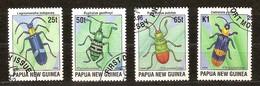 Faune Insecten Insectes Papua Papouasie Nouvelle-Guinée Yvertnr. 321-24 (o) Oblitéré Used Cote 5 Euro - Papouasie-Nouvelle-Guinée