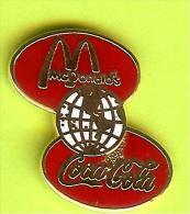 Pin's Mac Do McDonald's Coca-Cola Globe - 7I15 - Coca-Cola