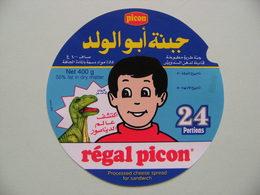 Etiquette Fromage Fondu - Régal Picon - 24 Portions Picon 74H Pub Dinosaure Export - Haute-Savoie  A Voir ! - Fromage