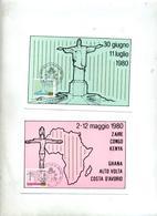 5 Carte Maximum 1981 Voyage Du Pape - Cartes-Maximum (CM)