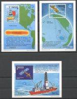 Micronesia, International Year Of The Ocean, UNESCO, United Nations, Ships, MNH, Michel Block 39-41 - Micronésie